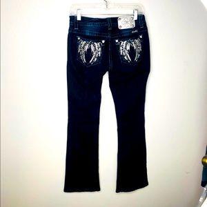 Miss me Jeans for women.  Angel wings on back sz26
